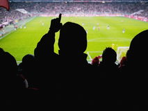 Fans football stadium Royalty Free Stock Image