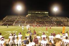 The fans. Friday night football mesquite vs horn Stock Images