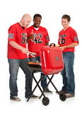 Fans: Grilling Tailgate Party Food Royalty Free Stock Photo