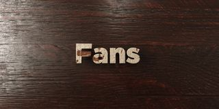 Fans - grungy wooden headline on Maple  - 3D rendered royalty free stock image Stock Photo