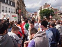 Fans having fun at the Euros Royalty Free Stock Photos