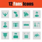 Fans icon set Stock Image