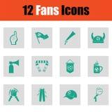 Fans icon set Stock Photo