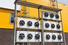 Fans im Freien für Klimaanlage und Belüftung Lizenzfreies Stockbild