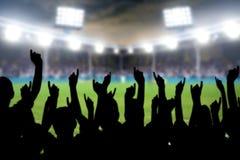 Fans im Stadion Stockbilder