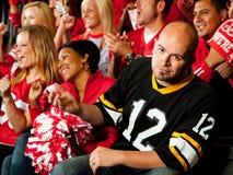 Fans: Juegos de Team Fan Upset By Losing que visitan Imagen de archivo libre de regalías