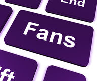 Fans Key Shows Follower Or Internet Fan Royalty Free Stock Photo