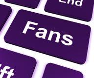 Fans Key Shows Follower Or Internet Fan Royalty Free Stock Photo