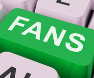 Fans Key Shows Follower Or Internet Fan. Fans Key Showing Follower Or Internet Fan Stock Photos
