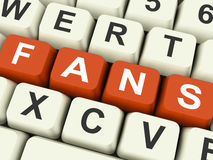 Fans Keys Show Follower Or Internet Friend Stock Photos