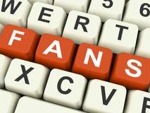 Fans Keys Show Follower Or Internet Friend Royalty Free Stock Photography