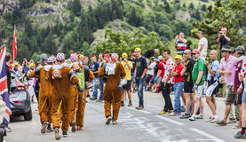 Fans of Le Tour de France Stock Images