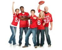 Fans : Les fans encouragent pour l'équipe préférée Images libres de droits