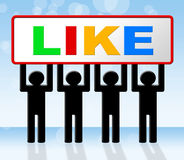 Fans Like Shows Social Media And Online Stock Image