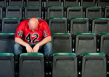 Fans: Lonely Man Disappointed After Football Loss Stock Photography