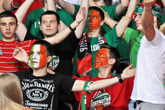 Fans of Lotomotiv team Stock Image