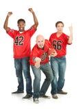 Fans: Män som hurrar för deras lag Royaltyfria Foton