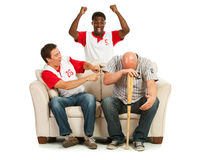 Fans: Man Distraught with Losing Team Royalty Free Stock Images