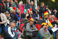 Fans in Motocross of Nations 2014 Royalty Free Stock Images