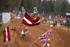 Fans in Motocross of Nations 2014 Stock Photography
