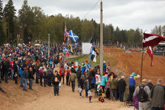 Fans in Motocross of Nations 2014 Royalty Free Stock Image