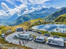Fans in the Mountains - Tour de France 2015 Stock Image