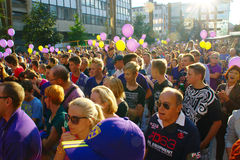 Fans Of NK Maribor Royalty Free Stock Images