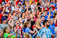 Free Fans On The Stands Game Of The Fifa Women S World Cup At Winnipeg Stadium Stock Images - 85349324