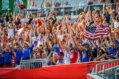 Free Fans On The Stands Game Of The Fifa Women S World Cup At Winnipeg Stadium Stock Photo - 85349440