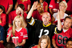 Fans: One Fan Excited About Touchdown Royalty Free Stock Photo