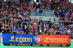 Fans Piast Gliwice Lizenzfreies Stockfoto