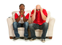 Fans: Praying for a Good Play Royalty Free Stock Photos