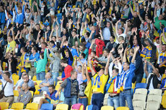Fans raised their hands Stock Photos