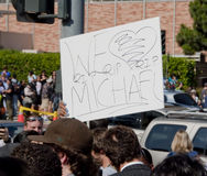 Fans Remembering Michael Jackson Stock Photo