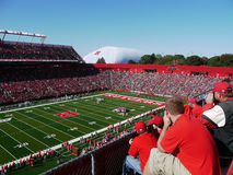 Fans in Rutgers Stadium. A view of Rutgers fans in Rutgers stadium during a football game between Rutgers vs. Tulane Stock Photos