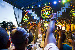 Fans at Safaricom Jazz Festival Royalty Free Stock Image