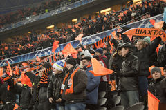 Fans of Shakhtar Royalty Free Stock Image