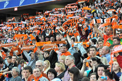 Fans of the Shakhtar team Royalty Free Stock Photography