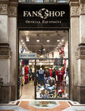 Fans Shop, official equipment, Milan Stock Photos