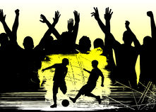 Fans and soccer. Illustration vector Royalty Free Stock Images
