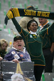 Fans of South Africa. Before the Final of the Rugby World Cup 2007 between South Africa and England at the Stade de France on October 20, 2007 in Saint Denis royalty free stock photography