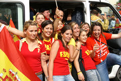 Fans from Spain Stock Images