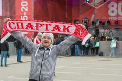 Fans of Spartak Royalty Free Stock Image