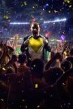 Fans on stadium game businessman royalty free stock photos