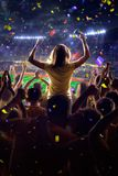 Fans on stadium game royalty free stock images