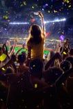 Fans on stadium game stock photos