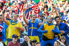 fans on the stands game of the fifa women s world cup at winnipeg stadium Stock Photos