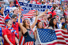 fans on the stands game of the fifa women s world cup at winnipeg stadium Stock Photo