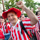 Fans supporting their team Stock Images
