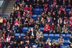 Fans sur la tribune Photographie stock